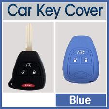 CAR KEY PROTECTOR COVER CASE DODGE CALIBER DURANGO RAM JEEP COMPASS BLUE