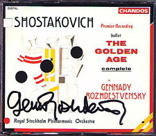 ROZHDESTVENSKY signed Shostakovich The Golden Age 2cd Chostakovitch Guennadi