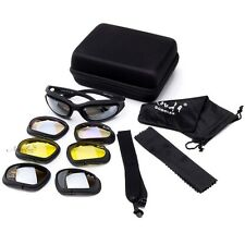 Goggles Safety Glasses for Bike w/ Hard Case  Interchangeable Lens