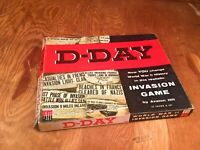 Avalon Hill AH 1964 - D-DAY June 6, 1941 - European Longest day Game  (PUNCHED)
