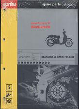 Genuine Aprilia Scarabeo 50 Ditech (01-02) Parts List Catalog Manual Book AB13