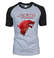 Game Of Thrones House Stark The North Remembers Men Raglan T Shirts 2019 Summer