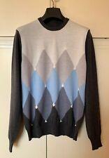 maglia BALLANTYNE maglione men sweater merino wool taglia S rombi