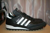 ADIDAS Mundial Team Turf Men's US 8 Soccer Shoes Leather Black 019228 EUC 12/18