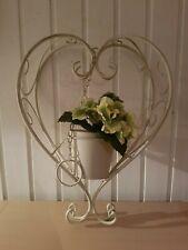Rost Optik  Hängeampel Herz Blumenampel Metall-Garten vielseitig zu Dekorieren