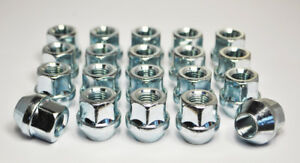 "Set of 20 x 7/16"" UNF, 19mm Hex Open Alloy Wheel Nuts (Silver)"