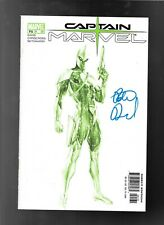 Captain Marvel 1 2002 Variant Cover  signed Peter David MID-OHIO CON
