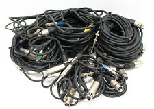 """XLR Female to 1/4"""" Male Assorted Microphone Audio Cables Lot of 25"""