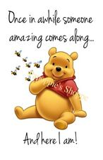 Winnie the Pooh Fabric Block Crazy Quilt Image printed onto Fabric Quote