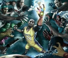 NBA: The Quest For The Ring Poster Marvel Kobe Bryant 20.75 X 17.75