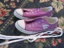 Mens 9.5 Campus Footnote K State Kansas Wildcat shoes purple sports team UNISEX