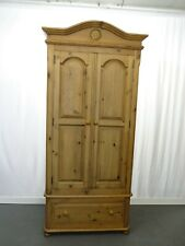 Decorative pine 2 door wardrobe with single drawer #2284