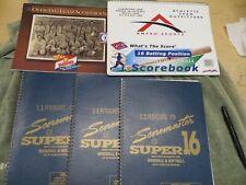 C.S. Peterson Super 16 - 3 - Baseball and Softball Scorebooks (26 Games) + 2