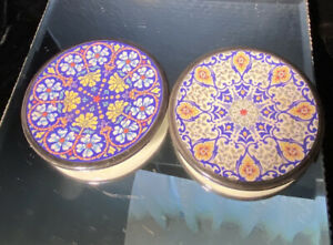 MG Ceramicas, Spain, 2 small plates, intricate designs, Wall Decoration