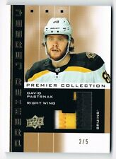 2019-20 Upper Deck Premier '02-03 Premier Retro Jersey Patch David Pastrnak 2/5