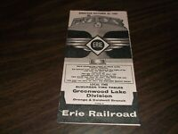 OCTOBER 1959 ERIE RAILROAD FORM 8 GREENWOOD LAKE DIVISION PUBLIC TIMETABLE