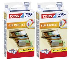 2 Stück tesa Fliegengitter für Dachfenster, mit Sonnenschutz,  1,2m x 1,4m