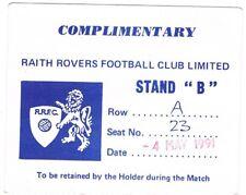 Ticket - Raith Rovers v Clydebank 04.05.1991