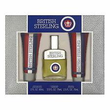 British Sterling Dana for Men 3 PC Fragrance Gift Set Cologne Spray After Shave