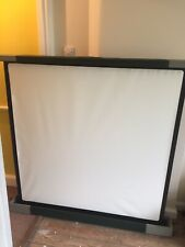 Johnson Luxor 'Autorect' Projection / Projector Screen - 4ft x 4ft Original Box