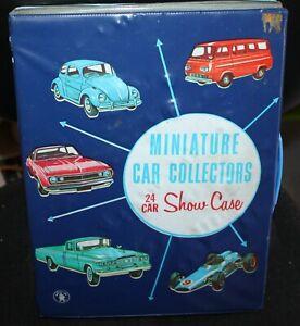Vintage 1966 Mattel Miniature Car Collectors 24 Car Show Case - good condition