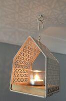 Decorative Cream Hanging Metal Lantern Tealight Holder Garden Wedding Gift