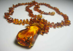 Natural Baltic amber necklace 19.5 g. !!!