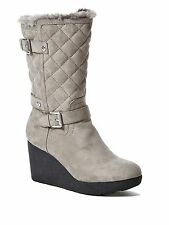 GUESS boots 8 Gray with wedge and faux-fur lining