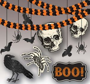 Shocktails Giant Halloween Room Party Ceiling And Wall Decoration Kit