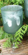 supporto candela lanterna PIGNA VETRO PETROLIO VERDE DECORAZIONE NATALIZIA