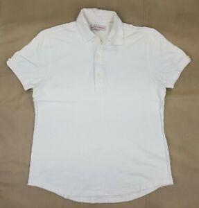 ORLEBAR BROWN Men's 2XL Sebastian White Short Sleeve 3 Btn Polo Shirt. B37