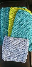 Trabajo Lote De 4 Tubo De Ganchillo Prendas para el torso Vestido Tutú Disfraz Chica-Stretch suministros