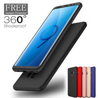 For Samsung Galaxy S9 S8 Plus Case 360 Full Cover Shockproof Slim Hybrid Hard PC
