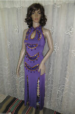 HOT SEXY BEADED HANDMADE SAIDI COSTUME DRESS GALABEYA BELLY DANCE LINGERIE ABAYA
