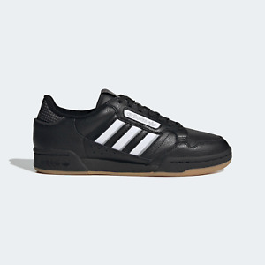 adidas Originals Continental 80 Leather Trainers in Black / White and Gum