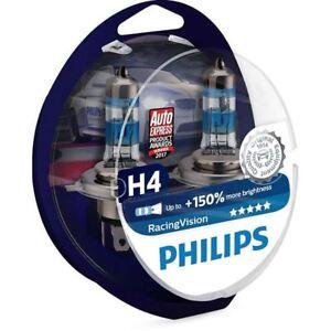 Philips Racing Vision 2x H4 12342RVS2 Headlight bulbs up to 150% more brightness