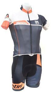 Santini Short Sleeve Cycling Kit Men SMALL Black Road Bike Socks Gloves Race
