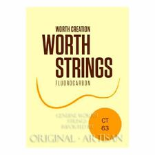 More details for worth clear ukulele strings - tenor - double length pack for 2 restrings - ct