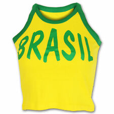 Brazil , Brasil Ladies Woman's Vest Crop Top World Cup BRAND NEW