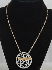 Robert Lee Morris Soho LUXE Two Tone Geometric Cutout Toggle Necklace $45