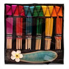 NUOVO Rainbow Incenso & Lotus titolare Gift Set Coni & Bastoncini