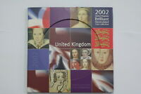 2002 BRILLIANT UNCIRCULATED UK 8 COINS YEAR SET B24 BX6 - 238