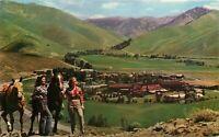 Penny Mountain Northwest Curio 1950s Sun Valley Idaho Postcard Horses 10195