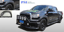 BLACK TEXTURED Pocket Rivet Fender Flares 2007-2013 Toyota TUNDRA ; FRONT LONG