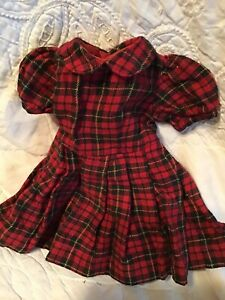 Antique Plaid Doll Dress