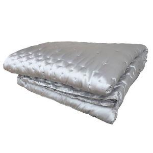 Jasmine Silk Grey Silk Bedspread