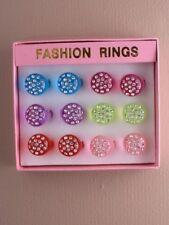 scatola di per bambini anelli x12 acyrilic vari formati in box espositore