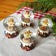 Gisela Graham Nordic Christmas gingerbread girl mini snow dome globe