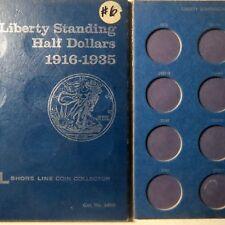 Vintage 1916-1935  WALKING LIBERTY SILVER HALF DOLLAR FOLDER,  with NO COINS
