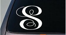 "LETTER S 6"" monogram sticker decal truck car window teach craft initials *D790*"